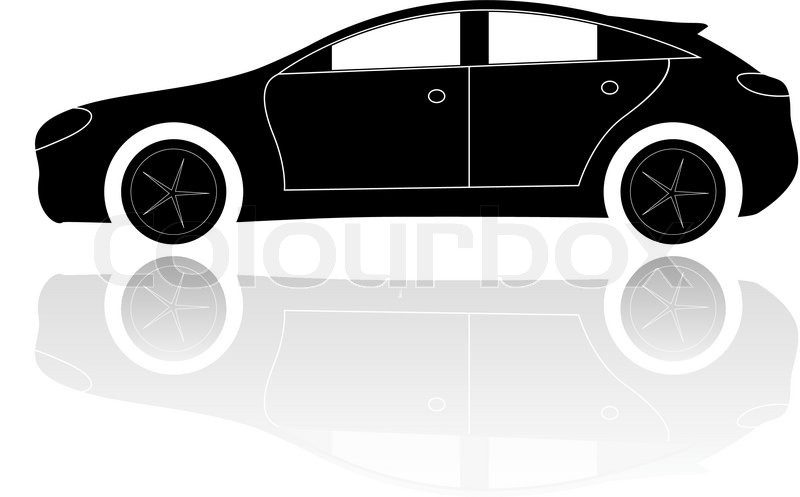a silhouette of a car vector