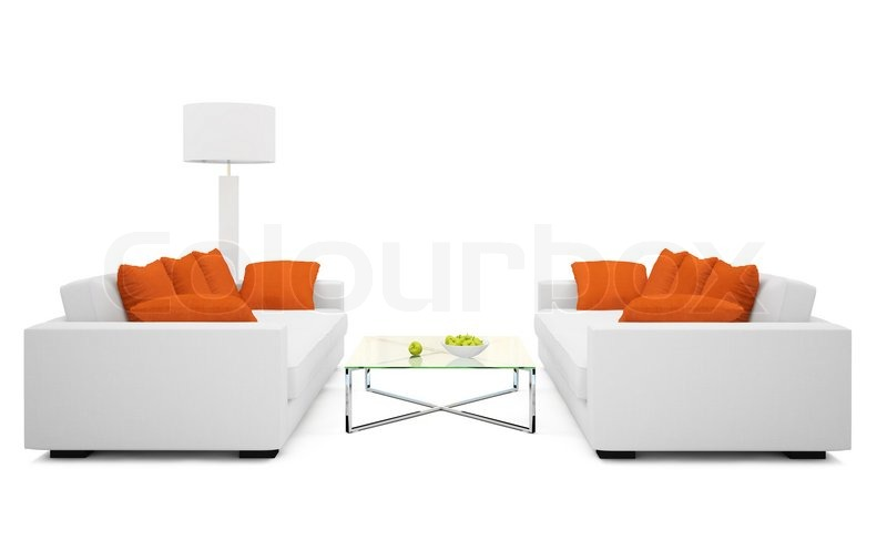 Part Of The Modern Living Room On White Background