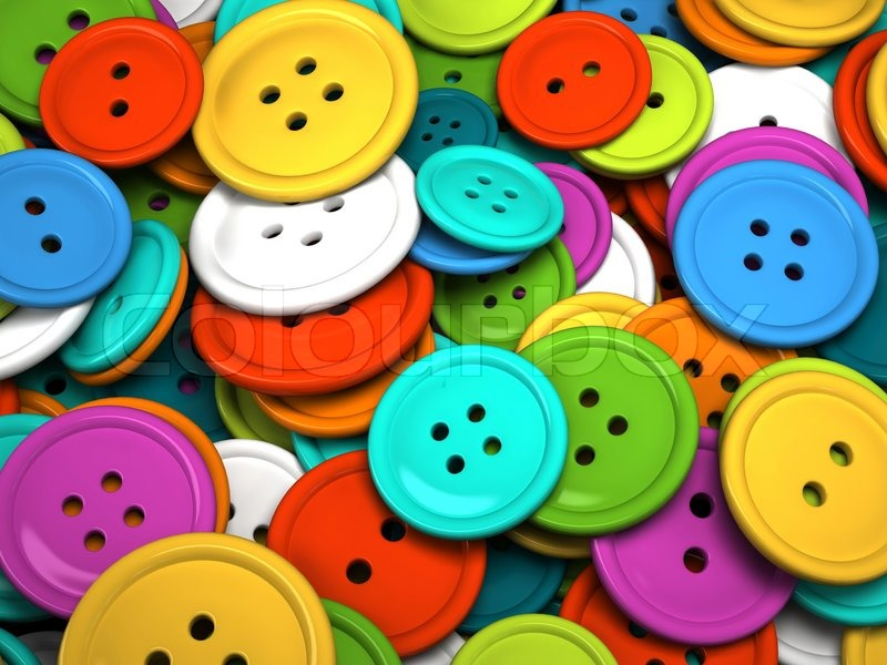Multicolored buttons for clothing | Stock Photo