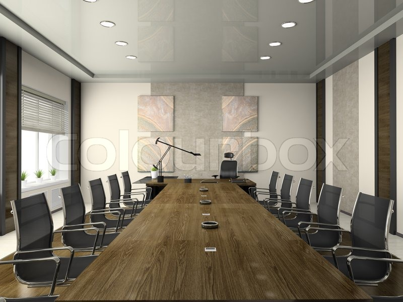 interior of the modern conference hall stock photo