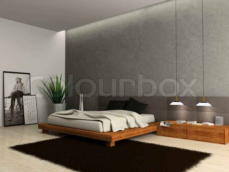 modern bedroom interior 3d render interior of modern bedroom 3d rendering stock photo 923
