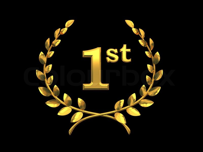 Gold Symbol Of The Victory First Place 3d Rendering Stock Photo