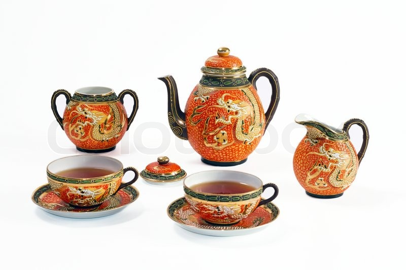 Antique Japanese Tea Sets With Dragon Antique Chinese Tea Set With