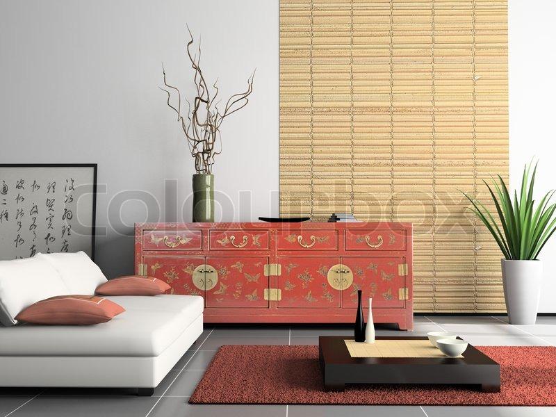 Startseite interiorwith chinesische stockfoto colourbox - Japanisches wohnzimmer ...