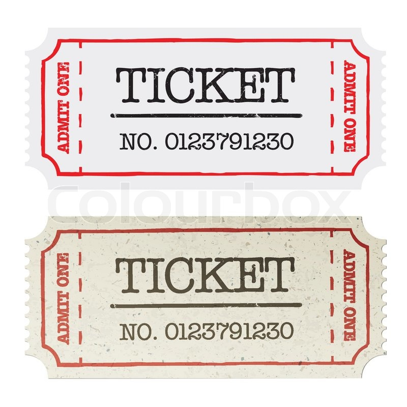 Vintage paper ticket, two versions Vector illustration, EPS10 | Stock ...