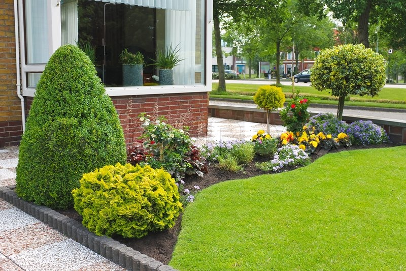Small Garden In Front Of The Dutch House Netherlands | Stock Photo