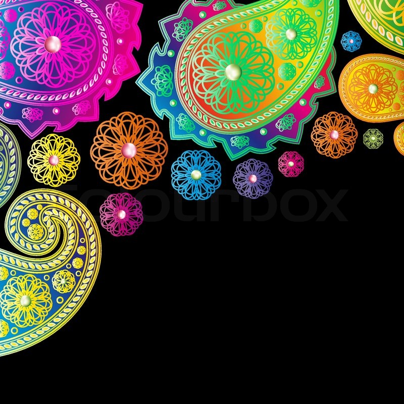 Paisley Designs Background Stock Vector Colourbox