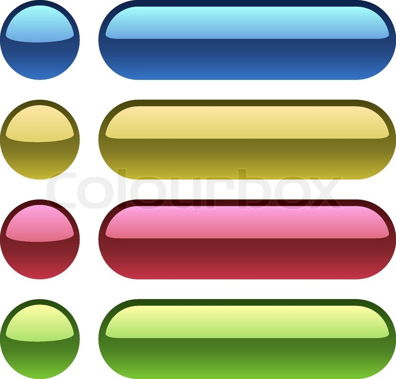 Color plastic buttons for web design. | Stock Vector | Colourbox
