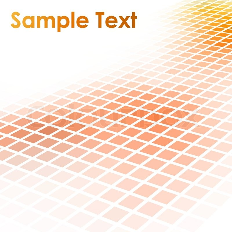 Abstract Orange Square Mosaic Vector Stock Vector