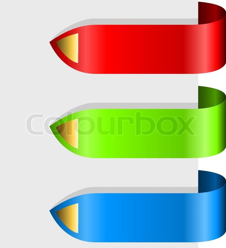 Blank color ribbon arrows design     | Stock vector | Colourbox
