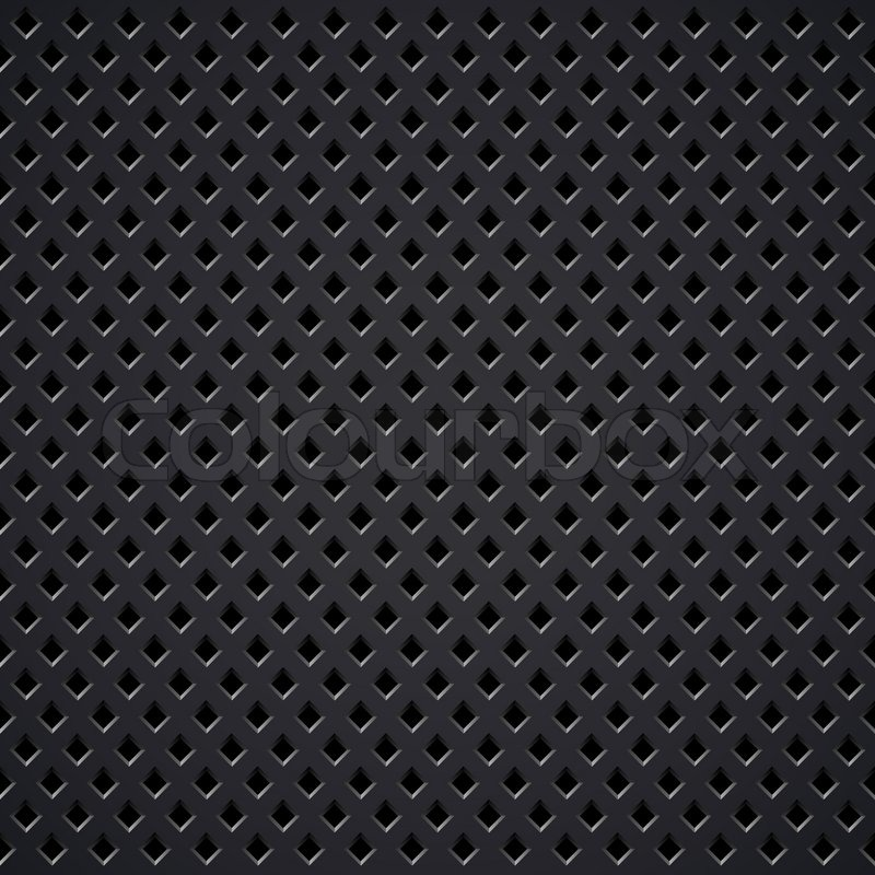 Dark Metal Diamond Perforated Grill Vector Texture