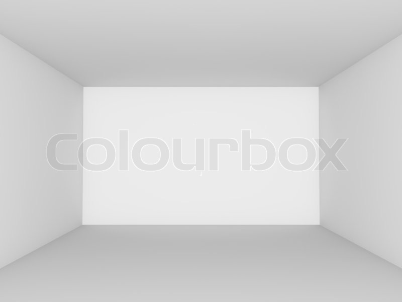 leerer wei er raum perspektivische ansicht stockfoto colourbox. Black Bedroom Furniture Sets. Home Design Ideas