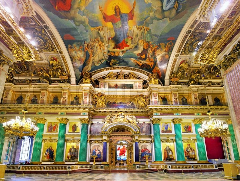 Saint Isaac S Cathedral In St Petersburg Russia Interior