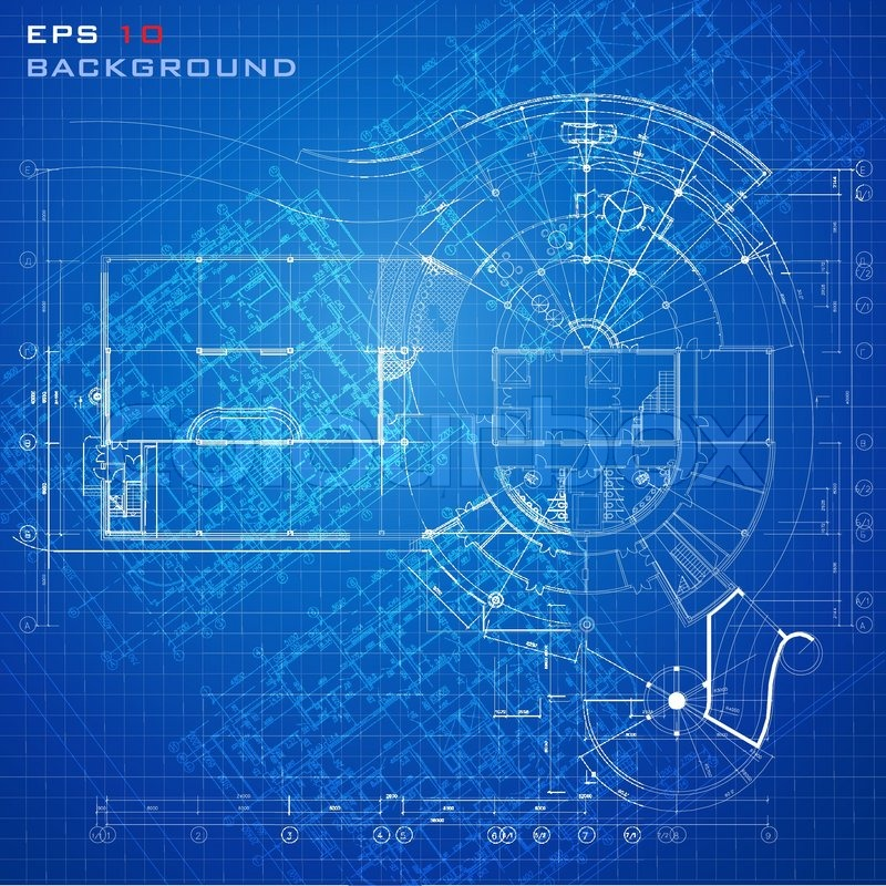 Urban Blueprint  Vector   Architectural Background