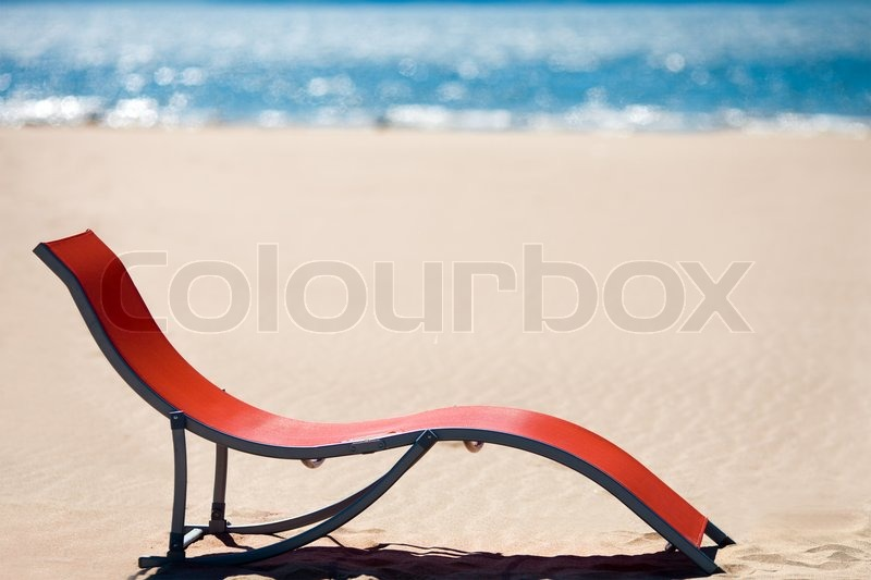 Beach Chair On Idyllic Tropical Sand Beach Concept For