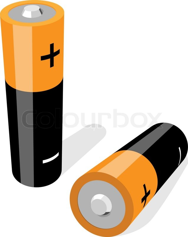 Vector Illustration Of Two Aa Size Batteries Isolated On