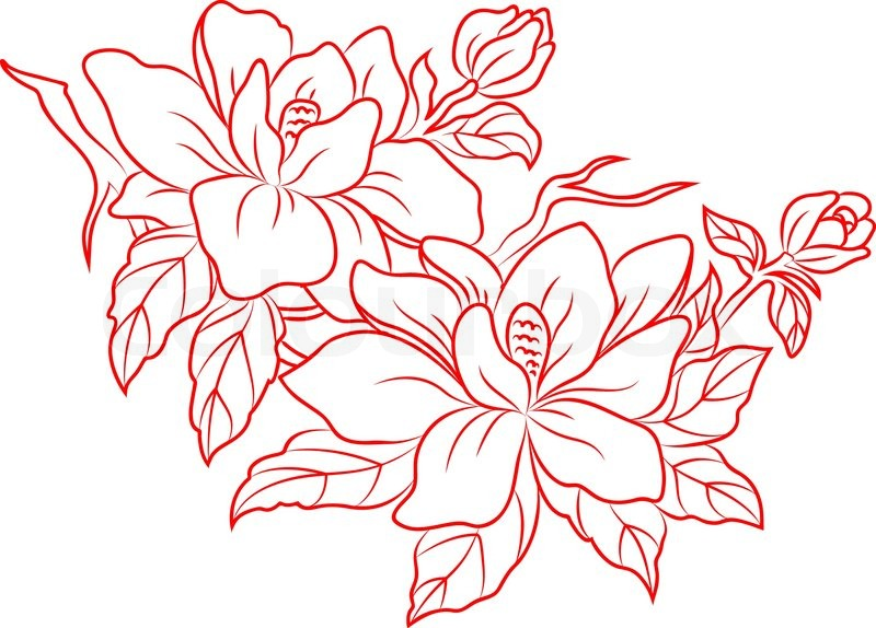 Chinese Flower Vector Flowers in Chinese Retro Style