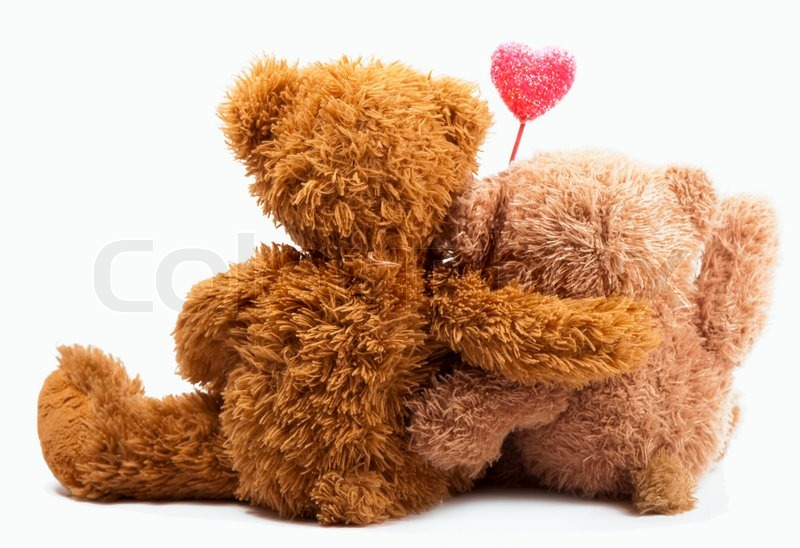 Teddy bears with pink love heart stock photo colourbox altavistaventures Images