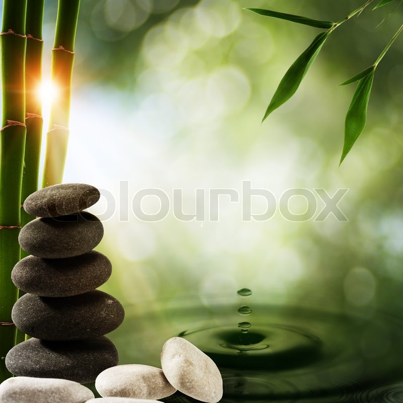 Abstract Eco Backgrounds With Bamboo Stock Photo Colourbox