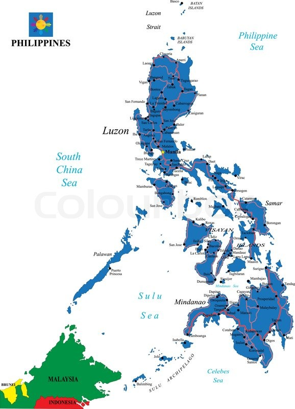 Philippines Map Stock Vector Colourbox - Philippines map