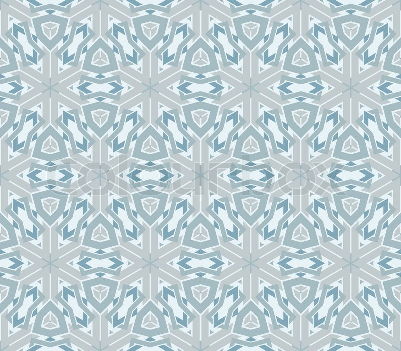 Winter Vintage Pattern Wallpaper Vector Seamless Background