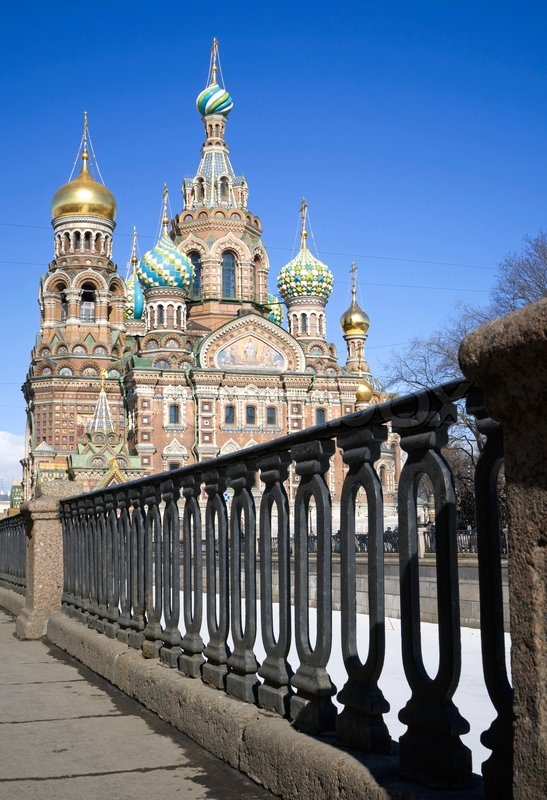 Orthodox church of the savior on blood famous landmark in for Famous landmarks in russia