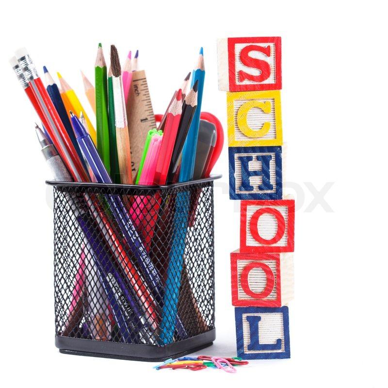 Stationary For School Stock Photo Colourbox