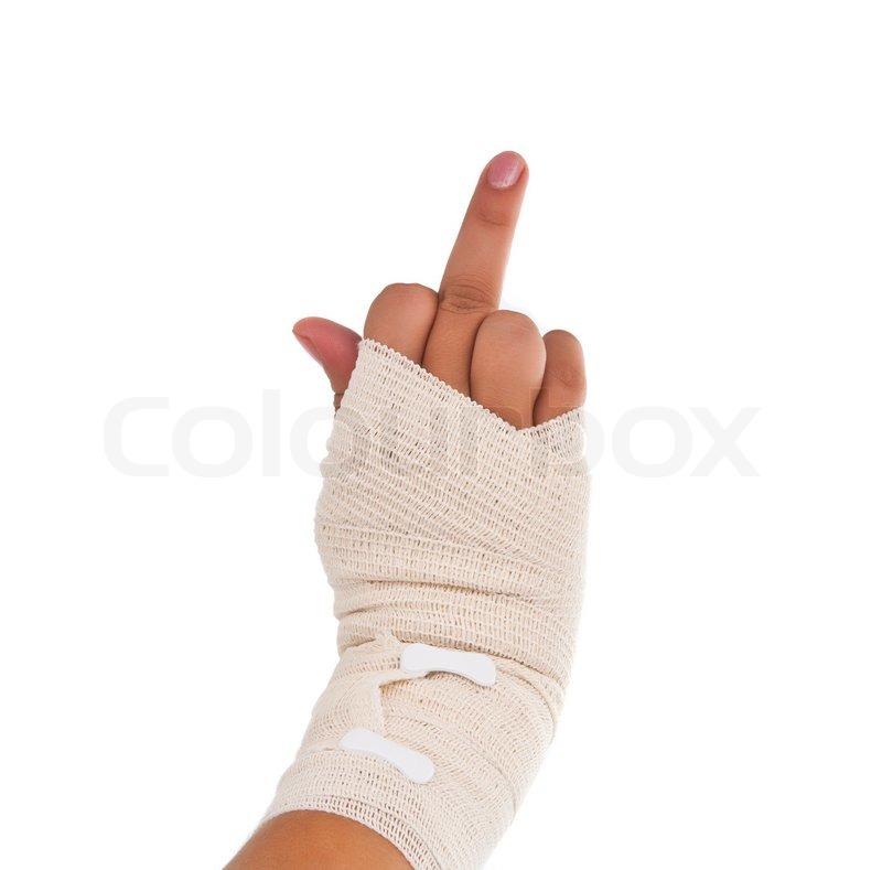 Hand Tied Elastic Bandage Stock Image Colourbox