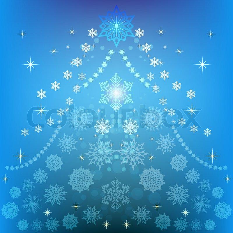 abstrakter weihnachtsbaum winter vektor backgrund. Black Bedroom Furniture Sets. Home Design Ideas