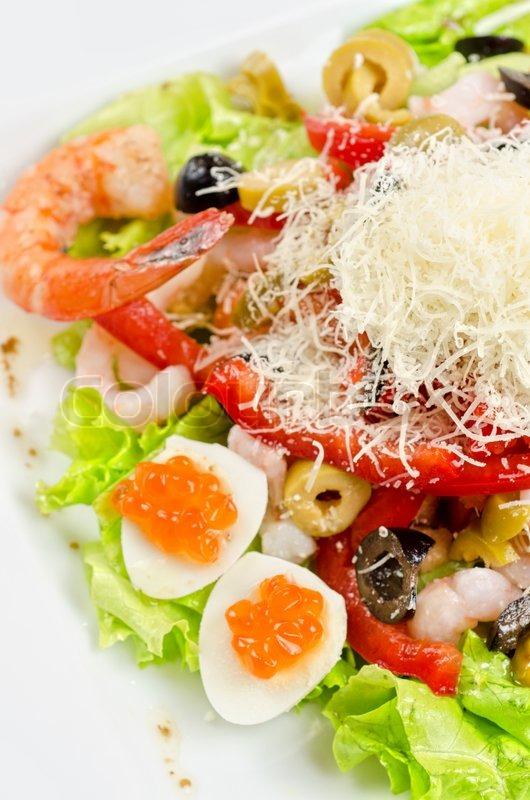 Вкусные салаты с морепродуктами с фотографиями