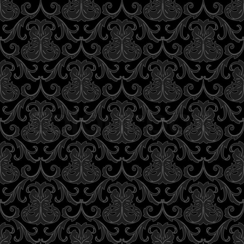 Seamless black wallpaper pattern | Stock Photo | Colourbox