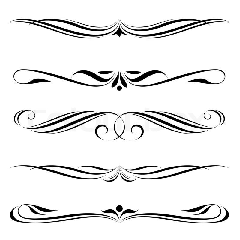 Decorative elements border and page rules stock photo for Greche decorative