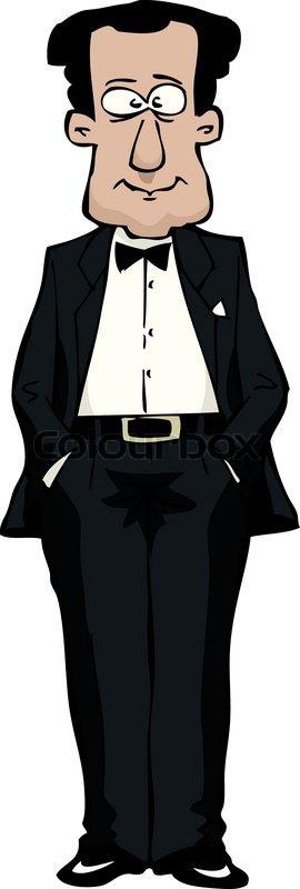 in a tuxedo | stock vector | colourbox