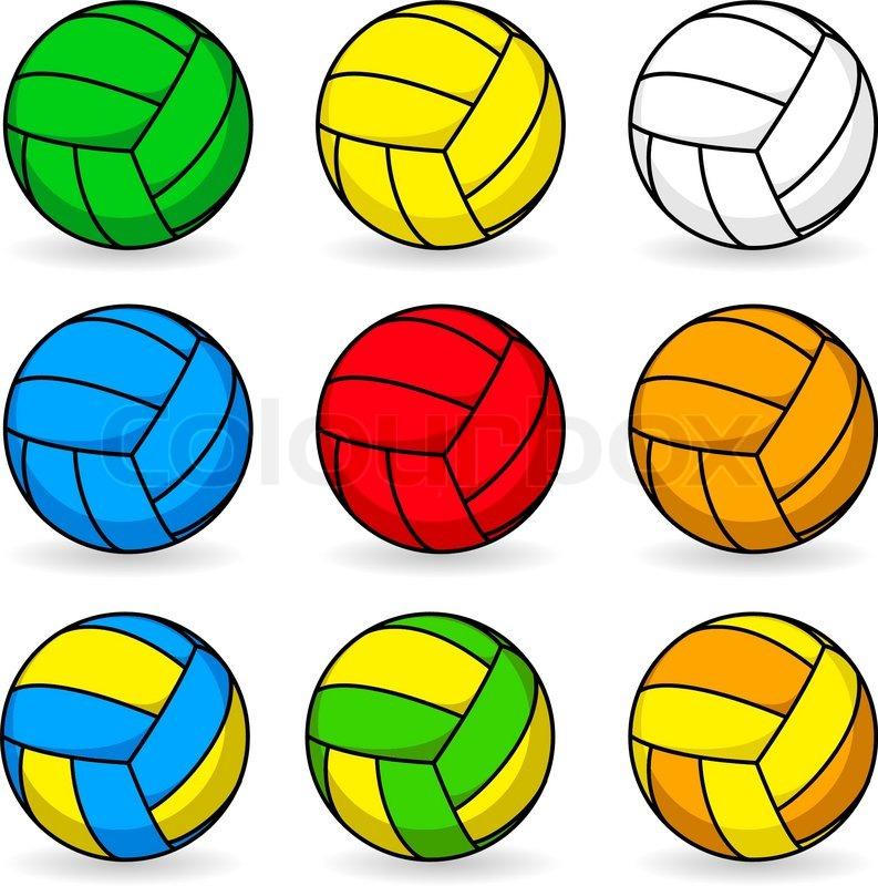 cartoon volleyball clipart - photo #24
