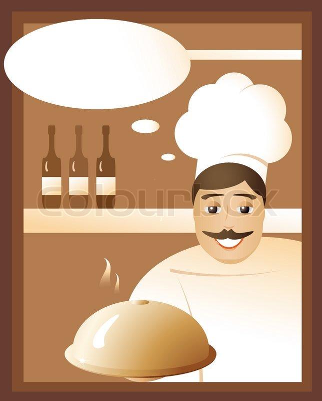 einladung vom küchenchef in einem restaurant für ein leckeres, Einladung