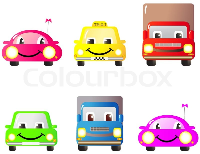 Smile Educational Toys : A set of colorful fun and cute cars toys cartoon