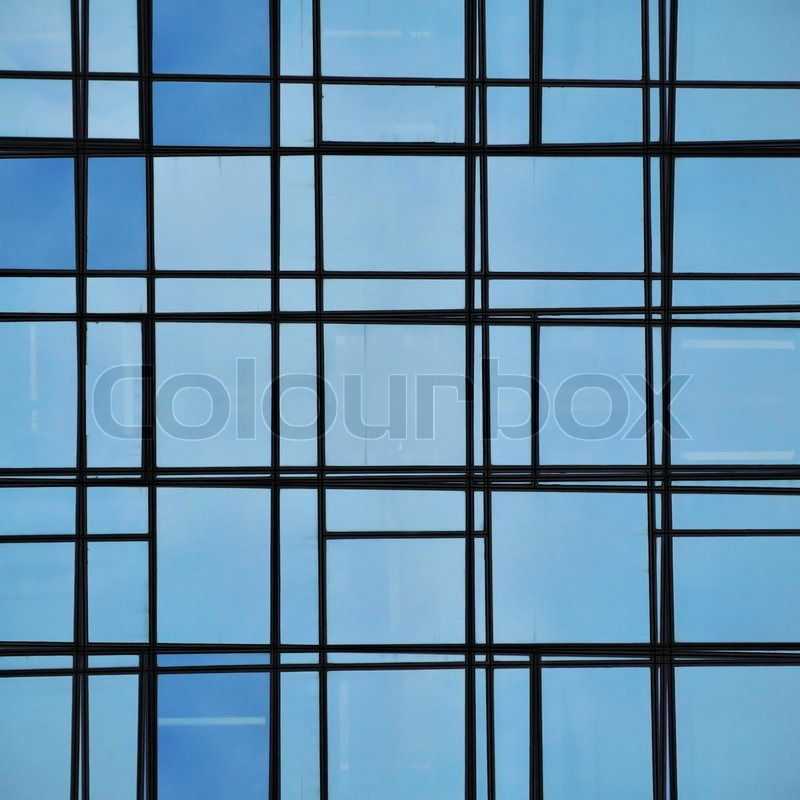 Glass facade texture  Abstract facade lines and glass reflection | Stock Photo | Colourbox
