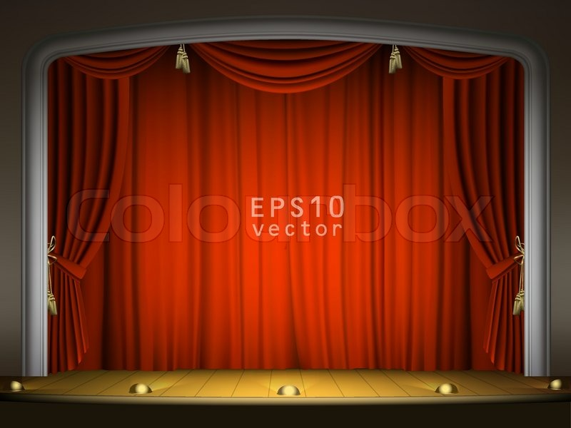 Red curtains stage - Empty Dance Stage Empty Stage With Red Curtain