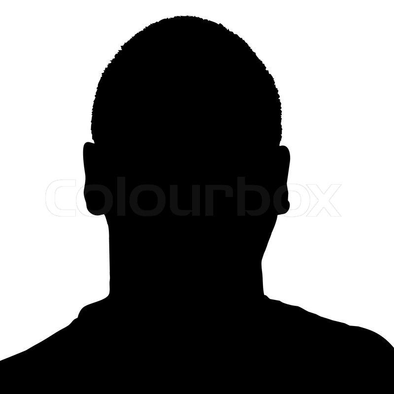 Guy's Kopf Silhouette   Vektorgrafik   Colourbox