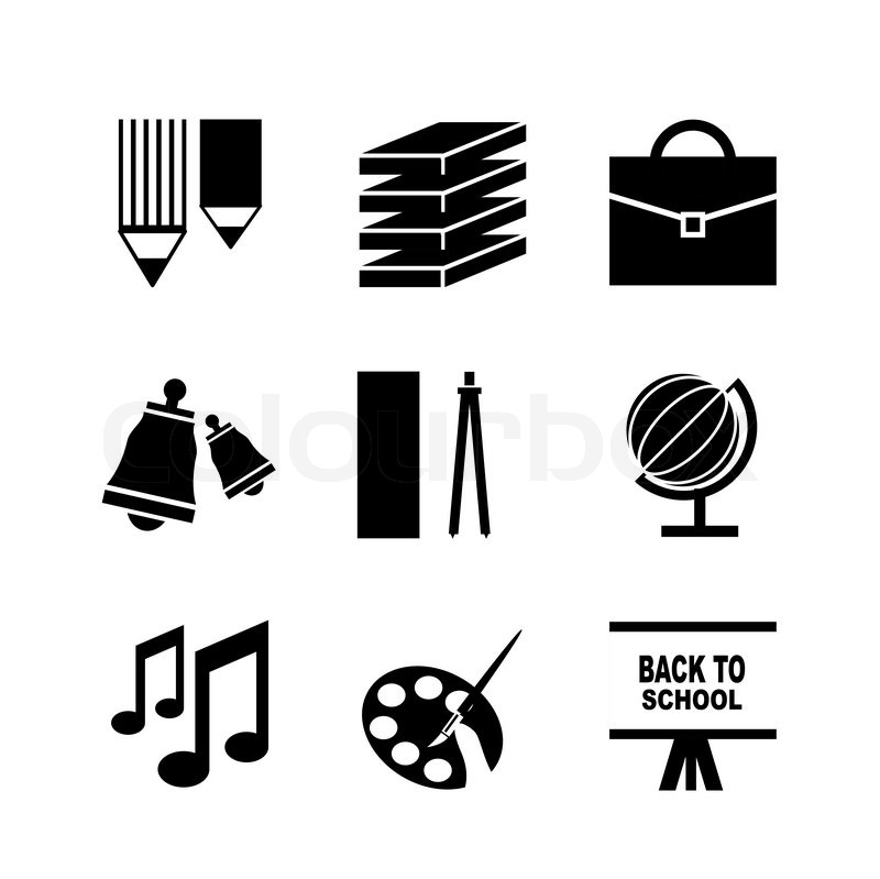 Stock vector of 'Back to school vector icons'