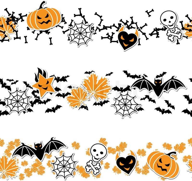 vector border of halloween related objects and creatures stock vector colourbox black cat clip art sleeping black cat clip art images