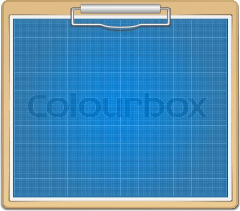 Blank blueprint paper stock vector colourbox clipboard with blueprint malvernweather Images