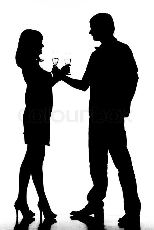 Stock bild von silhouette silhouette paar