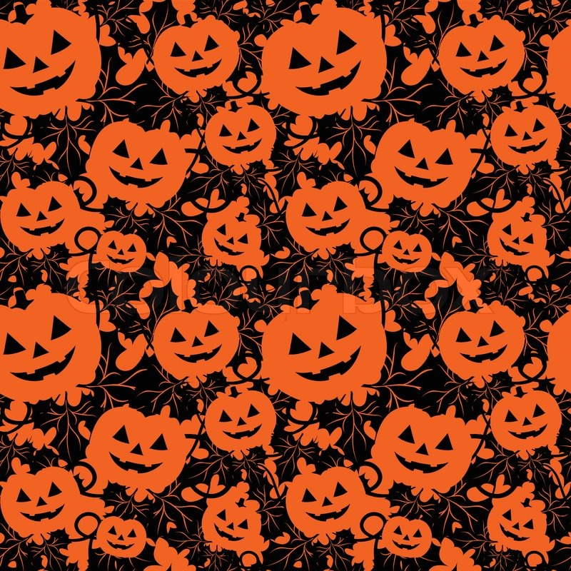 seamless background with pumpkins stock vector colourbox