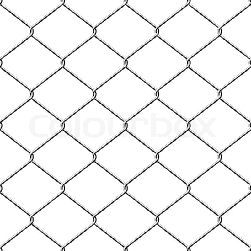 Realistic wire chain-link fence seamless vector background. | Stock ...