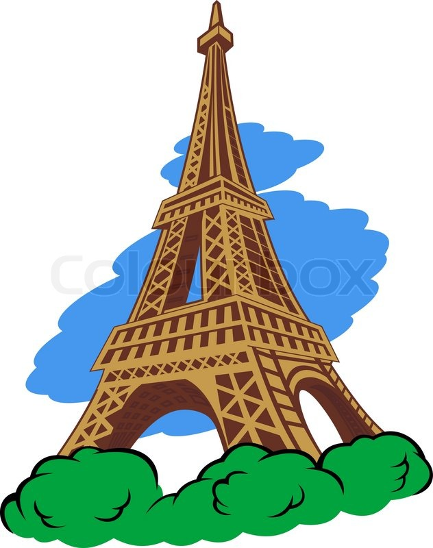eiffel tower in paris stock vector colourbox clip art city skyline clip art city scenes