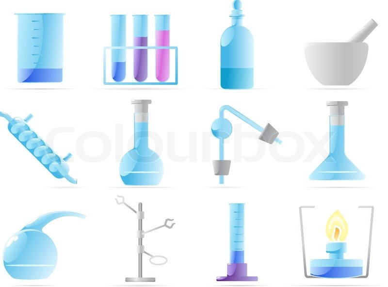 Icons For Chemical Lab Stock Vector Colourbox