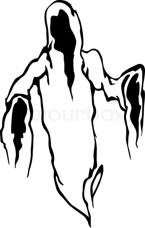 how to draw a creep ghost