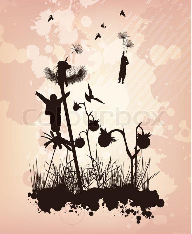 Die jungen fliegen in den himmel auf den blumen for Fliegen in blumen