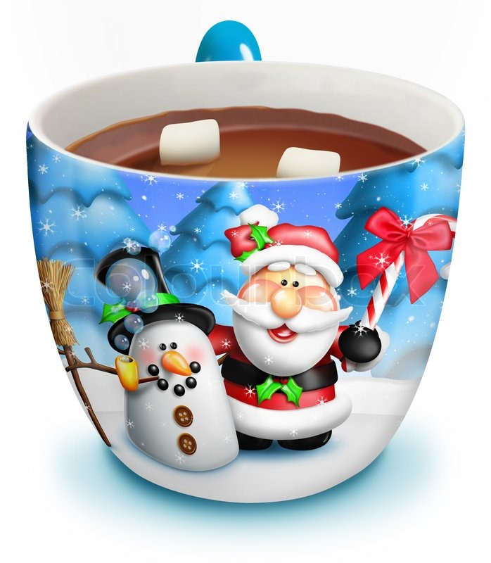 Christmas cup of hot chocolate stock photo colourbox